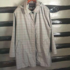 Pendleton coat plaid L removable hood